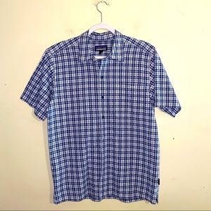 PATAGONIA men's button up plaid shirt size medium